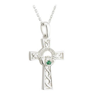 Claddagh Cross Pendant | Celtic Cross | Celtic Jewelry Emerald Isle Jewelry.