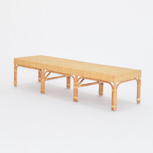 marseille bench - rattan & cane wood