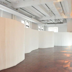 white softwall divider
