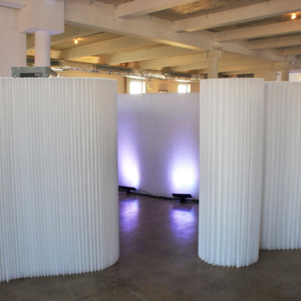 white softwall sculptural set up