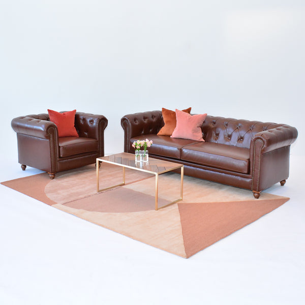 Gordon Sofa Brown with Gordon Chair
