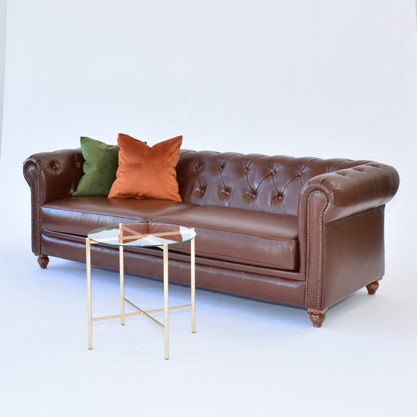 Gordon Sofa Brown with pillows