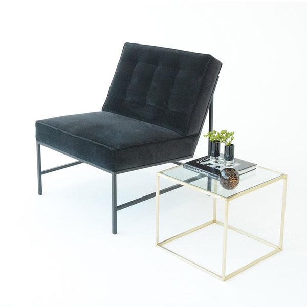 aston chair black with maxwell side table
