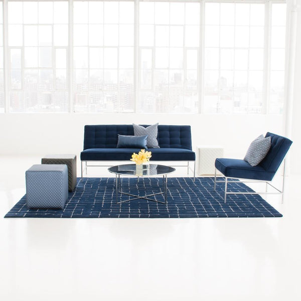 Lounge set up of Aston Sofa & Chair Blue