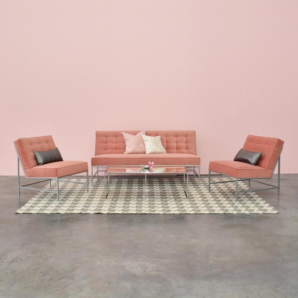 Aston Sofa Clay with Aston Chairs Clay