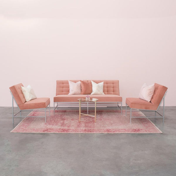 Lounge set up of Aston Sofa & Chairs Clay