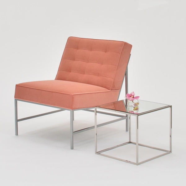 Aston Chair Clay with side table