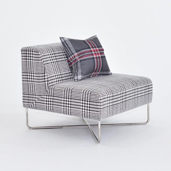 balance chair plaid with pillow