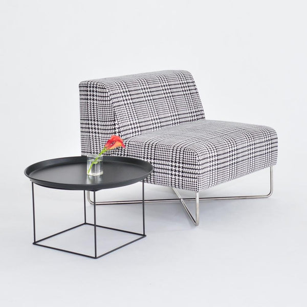 balance chair plaid with side table