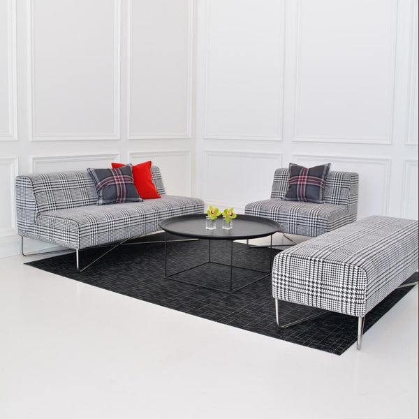Lounge set up of Balance Sofa Plaid