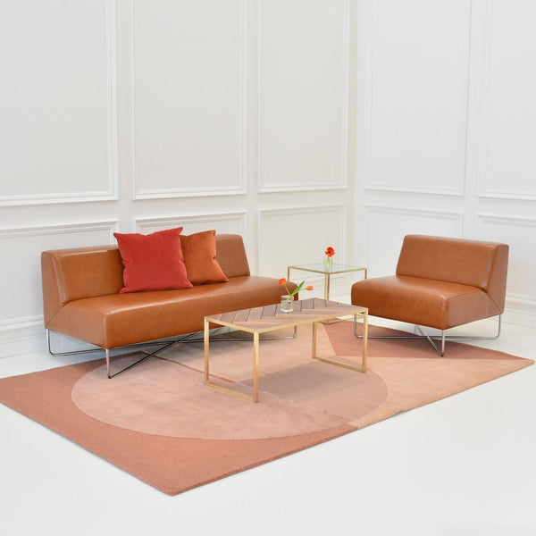 Balance Sofa Saddle with Mayfair Table