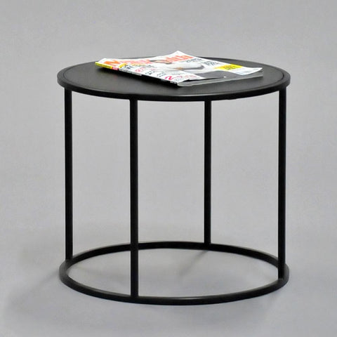 calvin side table round black