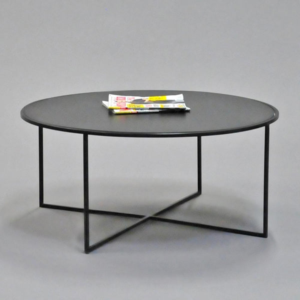 calvin coffee table round black