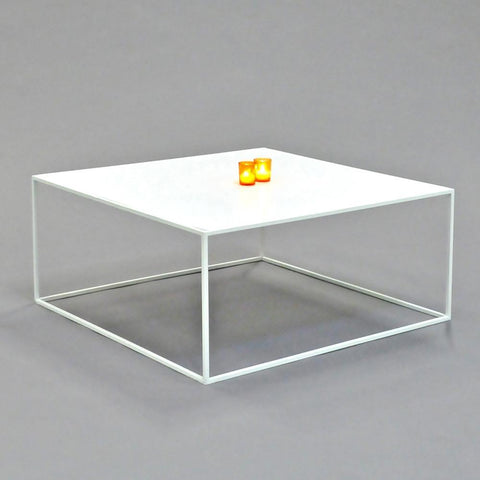 calvin coffee table square white
