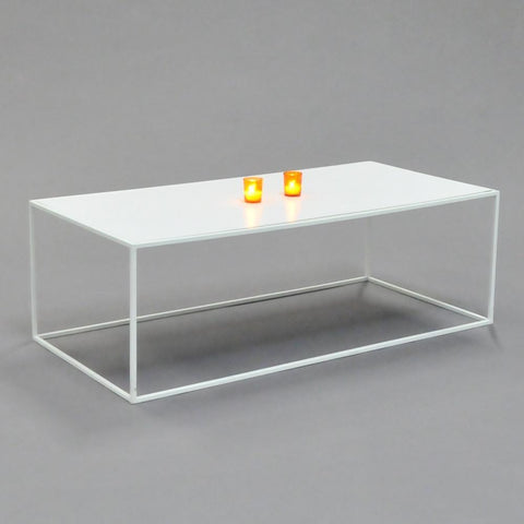 calvin coffee table rectangle white