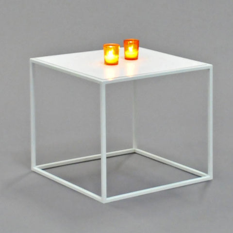 calvin side table square white