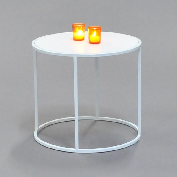 calvin side table round white