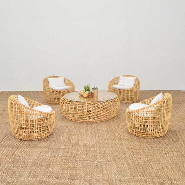 cane lounge chairs with cane coffee table