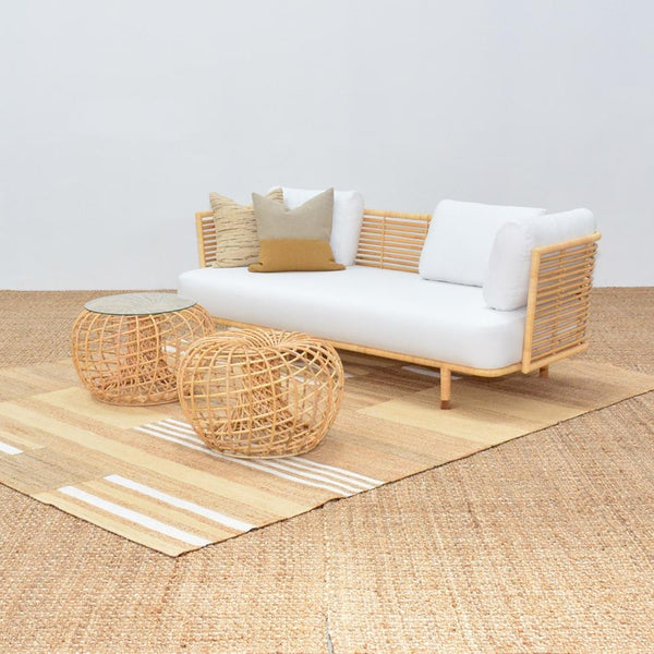 cane sofa natural with cane sides