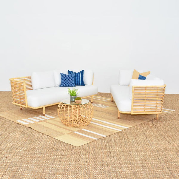 cane sofa natural with cane side