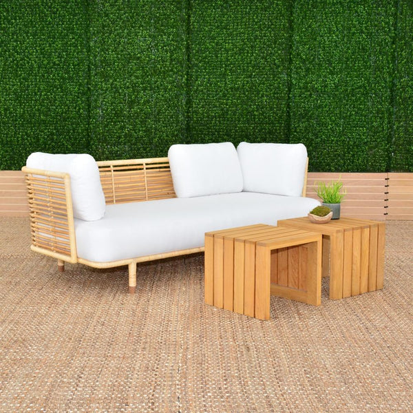 cane sofa natural with slat sides