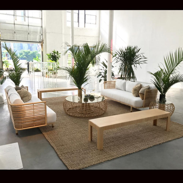 cane sofa natural with cane coffee