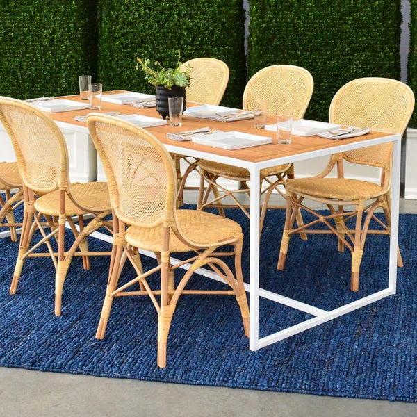 6 cassis chairs at Coast Dining Table
