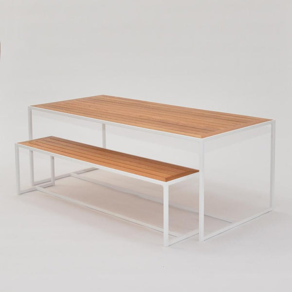 coast dining table and bench