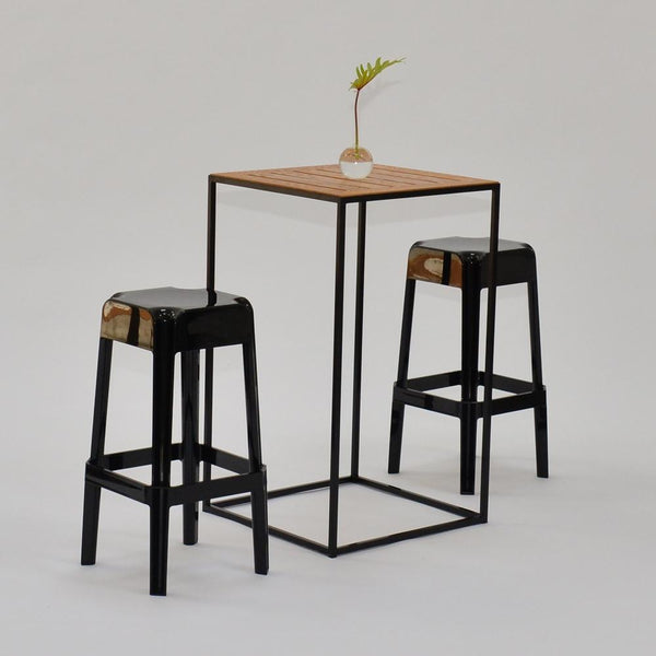 coast highboy black with stools