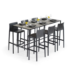Communal Table Black with Carbon