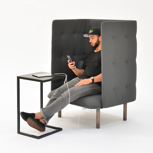 cove lounge chair with cove side table