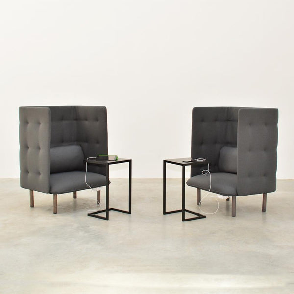 2 cove lounge chairs with cove side tables