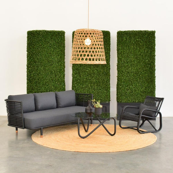 Curve lounge chair with cane sofa