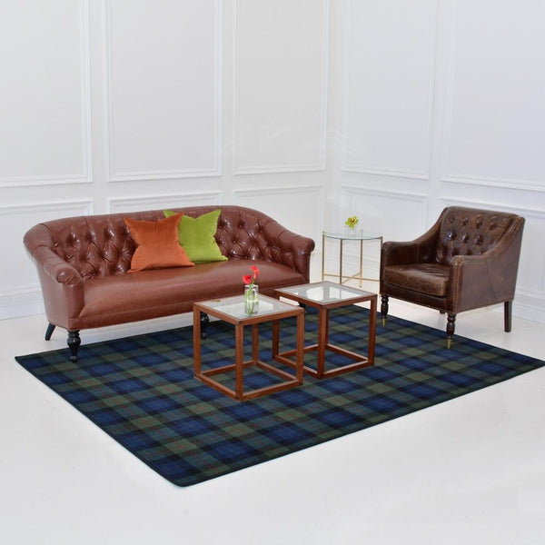 gunn modern area rug with fairmont sofa