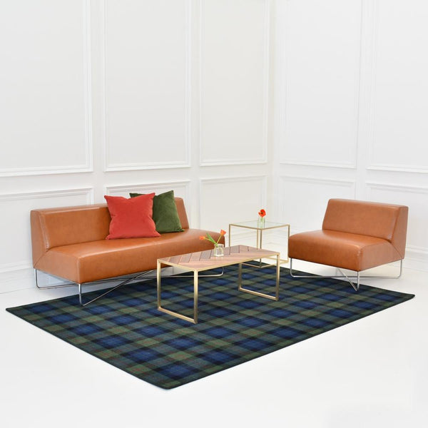 gunn modern area rug with balance saddle seating