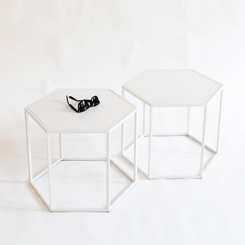 hex side tables