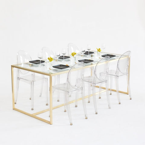 maxwell dining clear glass