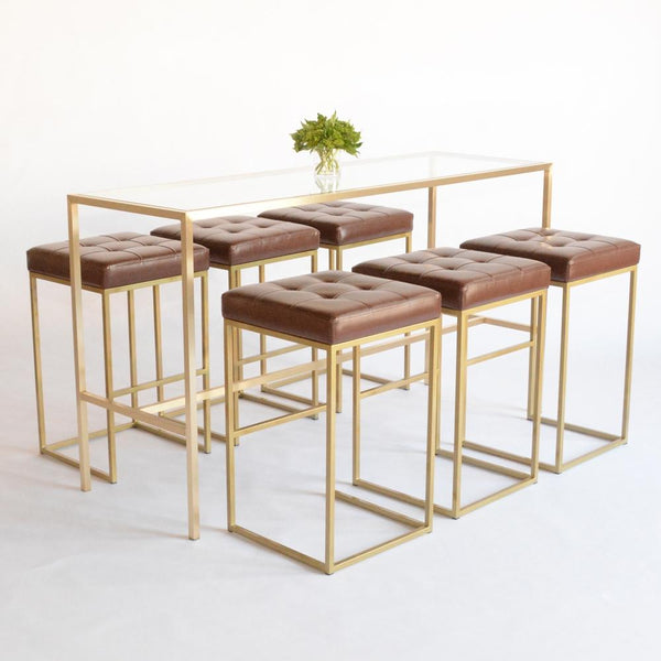 Maxwell Runner table with cole barstools