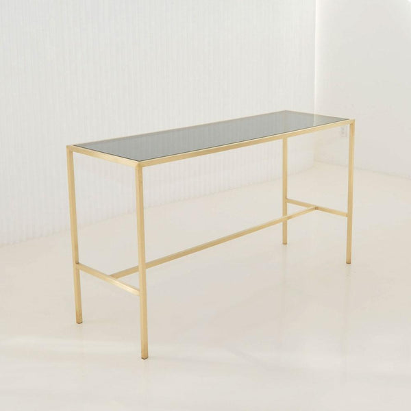 Maxwell Runner table smoke glass top