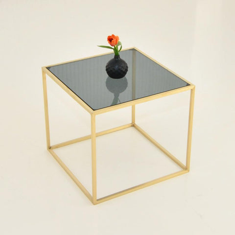 maxwell square side table smoke glass