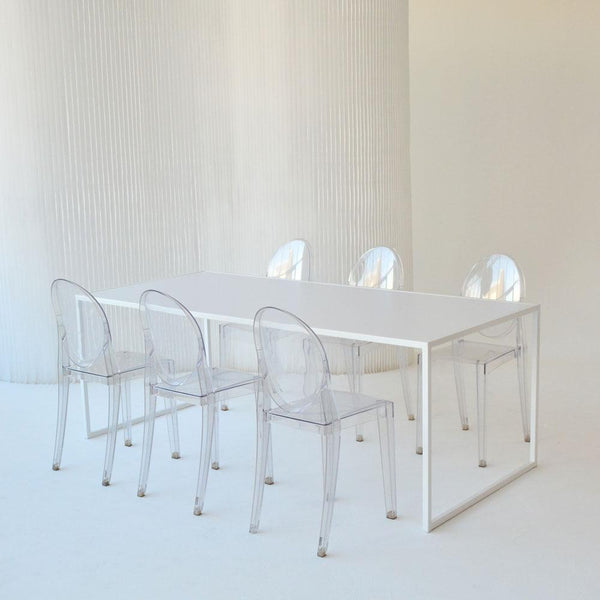 pawson table with victoria ghost chairs