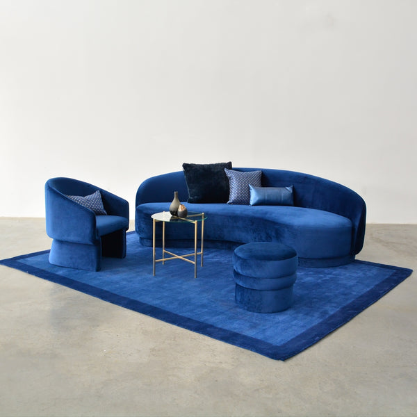 sigrid stool navy with slope sofa navy