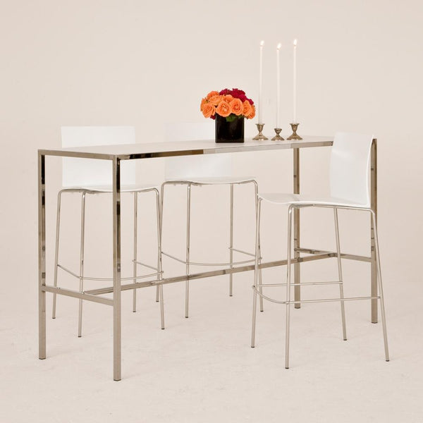 Chrome Runner Table with White top