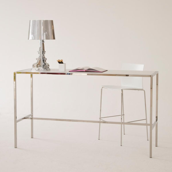 Chrome Runner Table with White top office use