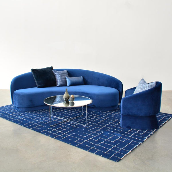 Slope Sofa shown with Sven Chair Navy