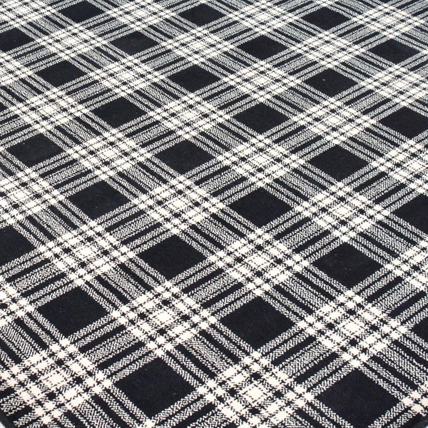 detail of st andrews plaid rug