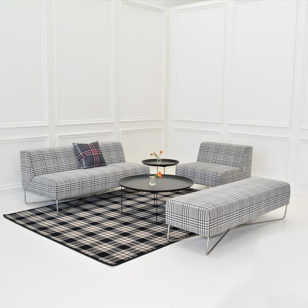 st andrews plaid rug with balance plaid seating