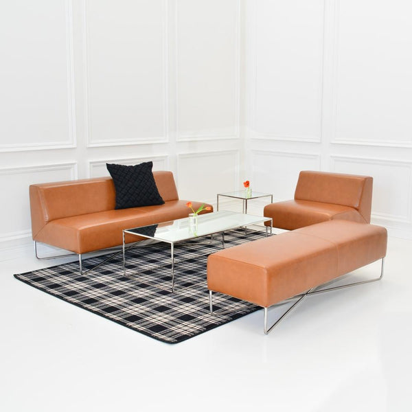 st andrews plaid rug with balance saddle seating