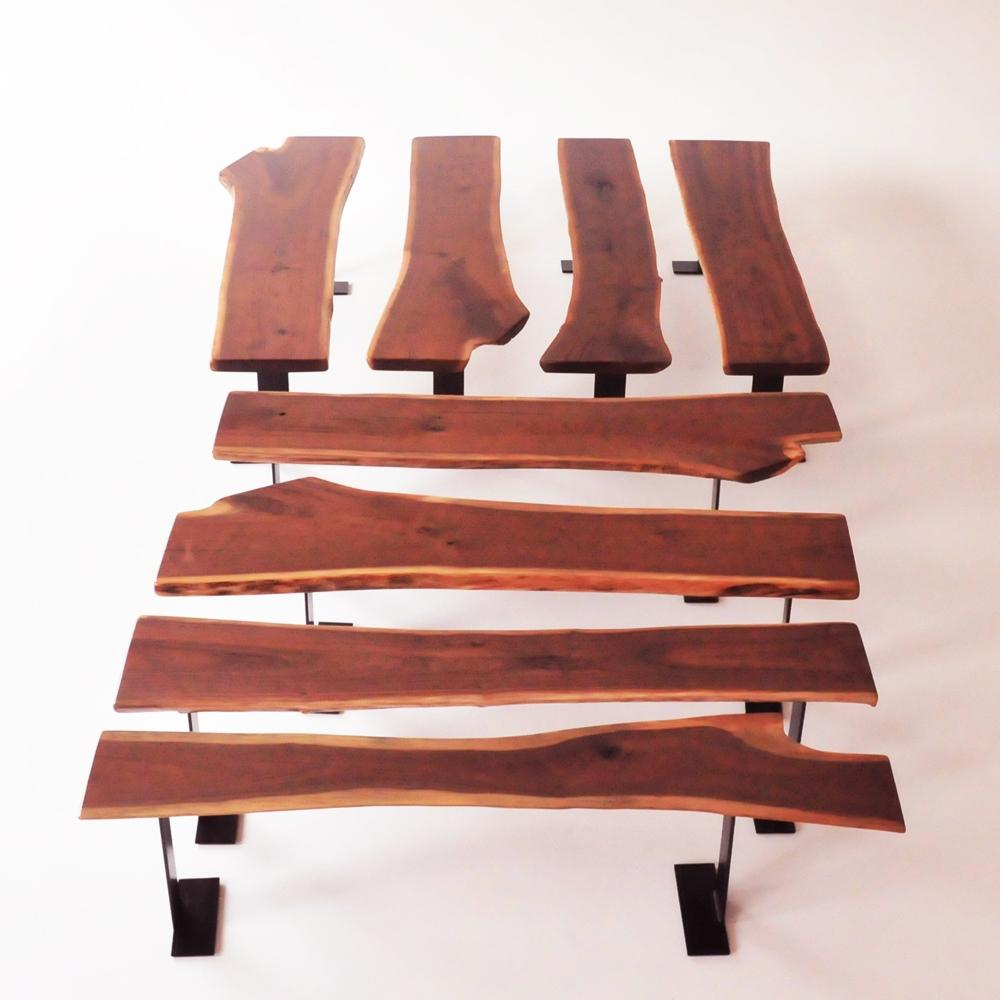 walnut bench varied shapes