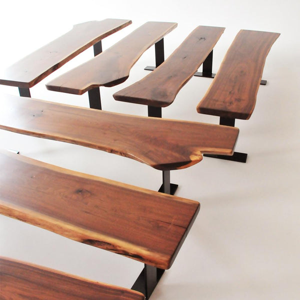 walnut bench grouping